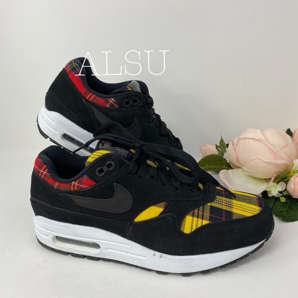 Nike Air Max 1 SE Tartan Black W AUTHENTIC NWT